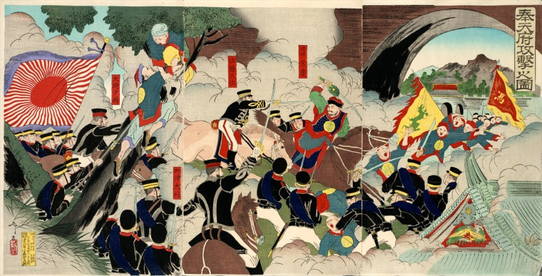 """The Battle of Mukden"" by Shunsai Toshimasa, 1894.jpg"